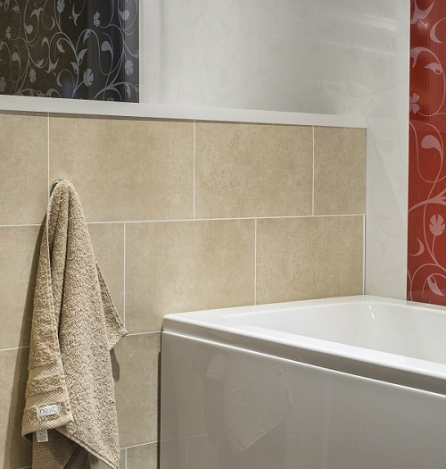 Dumalock Beige Stone Tile Effect Wall Panels