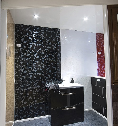 Floral Black & White Wall Panels